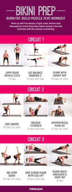 Pop sugar full body bikini circuit