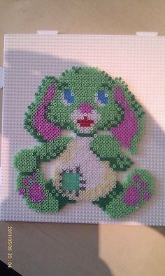 Bunny toy hama perler beads by Pernille Henriksen | Flickr
