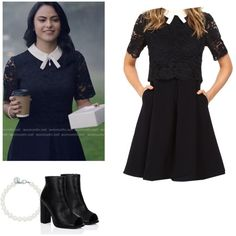Veronica Lodge - Riverdale by shadyannon on Polyvore featuring Ted Baker and Tiffany & Co.