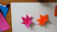 Kids origami how to make a simple rose flower origami paper kids easy craft how to make a simple flower mightylinksfo