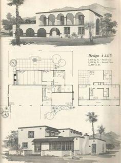 mid century modern house plans   vintage house plans 1960s