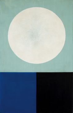 thunderstruck9: Jan Kubíček (Czech, 1927-2013), Kruh a plochy [Circle and planes], 1965. Acrylic on canvas.