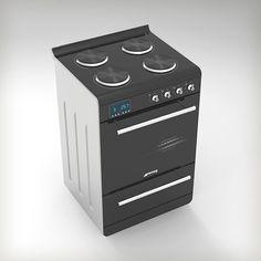 Cocina eléctrica con horno eléctrico de Percomin I.C.S.A, distinguida con el Sello de Buen Diseño 2013.