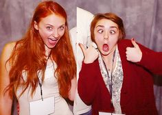 Sansa and Arya in another life.