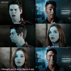 Teen Wolf 6x20 Ha! Lydia's reaction is so funny
