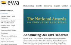 National Awards For Education Reporting Announced