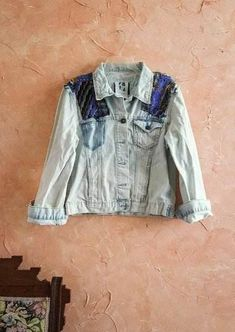 Envia Fashion Boho Jean Jacket Check out this item in my Etsy shop https://www.etsy.com/listing/513708760/upcycled-boho-denim-jacket-indian