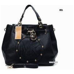 2013 Brand mk women fashion handbag/pu leather vintage style shoulder... ❤ liked on Polyvore