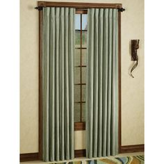 Chiffon Back Tab Crinkle Curtain Panels