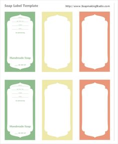 Free Soap Labels  Candle Labels Biz Starter Kit But You Can Use