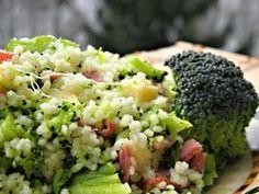 Brokolice s kuskusem - Babinet.cz No Salt Recipes, Broccoli, Clean Eating, Brunch, Food And Drink, Soup, Vegetarian, Yummy Food, Fitness