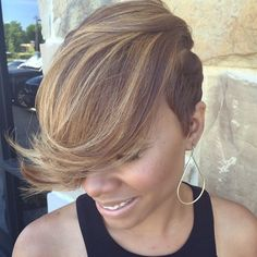 You will be surprised, but short haircuts and hairstyles for black women are not limited to just few options. We have 60 cute ideas for you and your perfect locks. Check these short black hairstyles and get inspired! Short Sassy Hair, Short Hair Cuts, Short Hairstyles For Women, Bob Hairstyles, 27 Piece Hairstyles, Black Hairstyles, Coiffure Hair, Sassy Haircuts, Look 2017