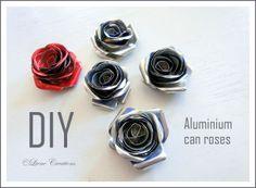 Liene Creations: DIY: Rosas de latas de aluminio/ Aluminium can ros...
