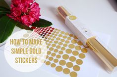 How to make simple gold stickers using a silhouette portrait and the golden minc foil by heidi swapp. My Silhouette programme is in german - I hope you can u...