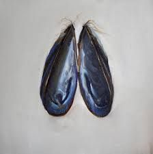 Image result for mussel shell painting
