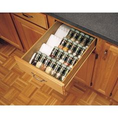 $58.80 · With this universal spice tray, you can conveniently organize the spices inside any drawer. This insert is made with tiered construction that allows you to set down up to 4 levels of spices in a single drawer. Normally, when keeping spices in a cabinet or shelf, it can be hard to read all of the labels to find the ones you need. But by having them laid out in this insert, you can easily see all of the labels without moving anything around.One of the great things about this s..
