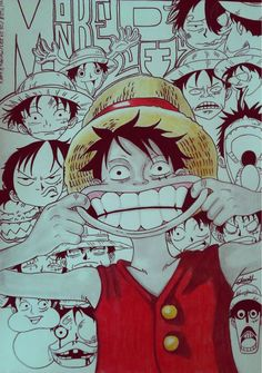 Luffy's faces by ibodi on DeviantArt