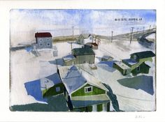 Rooftops Barrow AK by katediago on Etsy, $30.00
