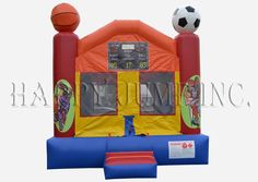 """Each Happy Jump Moonwalk is designed with safety and durability in mind, and constructed with only the highest quality 18 oz. """"lead free"""" materials."""