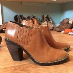 I just discovered this while shopping on Poshmark: Dolce Vita booties pull on ankle boots cap toe. Check it out!  Size: 6