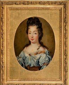 Portrait présumé de Marie-Louise Elisabeth d'Orléans, duchesse de Berry, early 18th century, French school