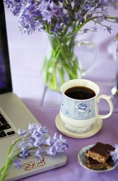 Coffee Cafe, Coffee Break, Hot Chocolate, Tea Time, Good Morning, Tableware, Lavender, Purple, Summer