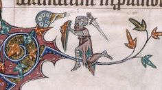 Why do knights fight snails in illuminated manuscripts?