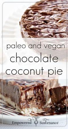 Paleo Creamy Chocolate Coconut Pie Recipe