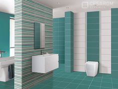 Colectia E-Project decor linii turquoise Bathroom Collections, Beautiful Bathrooms, Bathtub, Projects, Turquoise, Home Decor, Bathroom, Standing Bath, Log Projects