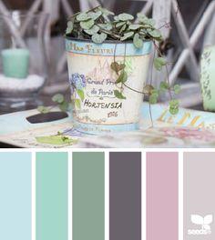 Tonos vintage. Encontrado en http://design-seeds.com/ Preciosos para cualquier regalo a una chica ;)