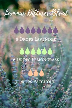 Lammas Essential Oil Diffuser Blend featuring lavender, lemongrass and patchouli | The Witch of Lupine Hollow