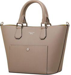 Bag / bolsas Bolsa de mão Bolsa de couro feminina carmim manoela taupe - Carmim Store