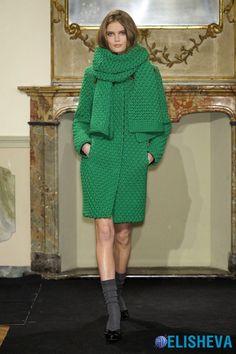 Вязаные вещи из толстой пряжи: платья, жакеты, свитера, пальто и аксессуары | Блог elisheva.ru