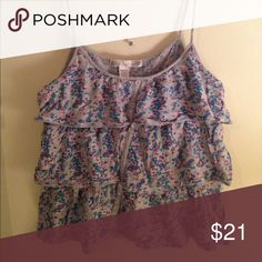 Nordstrom 'Love By Design' camisole Cute floral camisole by Love By Design which I got from Nordstrom. Worn a few times last summer but it's in like new condition! Size is S/M love by design  Tops Camisoles