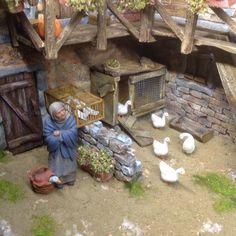 Nativity Crafts, Xmas Crafts, Diy And Crafts, Fontanini Nativity, Traditional Toys, Christmas Nativity Scene, Miniature Crafts, Tenerife, Beautiful Christmas