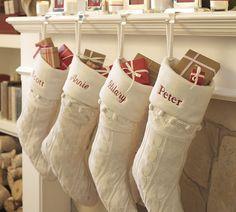 pottery barn - knit Christmas stocking