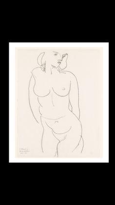 Henri Matisse - Nude, Tordo (Claude), 1950 - Charcoal on paper - 52,7 x 40,6 cm - New-York, The Metropolitan Museum of Art