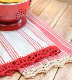 Tea Towel With Crochet Edging| Crocheting Craft | Crafts For Home — Country Woman Magazine