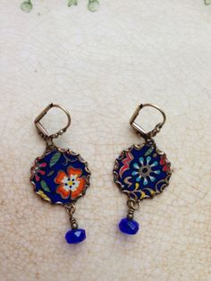 Tin Jewelry Earrings Confetti Flowers Tin for the by TheMadCutter, $28.00