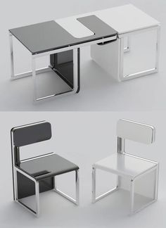 Design functional table and chair  Via: http://www.claudiosibille.com/