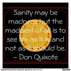 Inspirational Don Quixote quote Mouse Pad | Zazzle