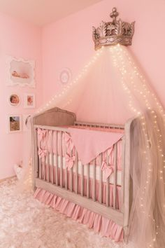 Ballerina Princess Nursery Room. Like the twinkle lights to use instead of a nightlight.