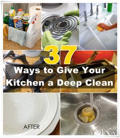 37 Ways to Give Your Kitchen a Deep Clean. Smart ways to clean your kitchen for spring!