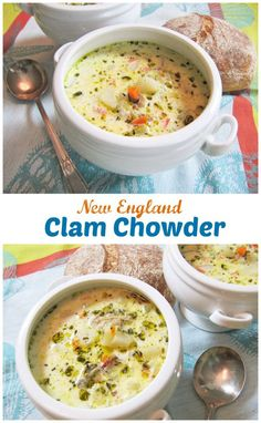 New England Clam Chowder | featured on Huffinton Post Kitchen Daily | ShesCookin.com