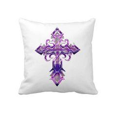 Travesseiro decorativo transversal medieval roxo I