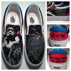26dd08d8e2 Items similar to Star Wars Shoes (Groom) on Etsy. Star Wars VansStar ...