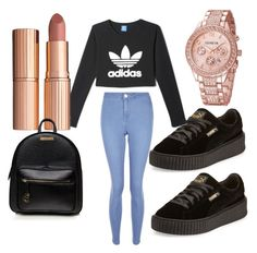 """""""Canon😚😚"""" by chanelikoli on Polyvore featuring Puma, adidas, New Look and Charlotte Tilbury"""