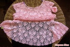 Платье узором Подснежники - Вязание - Страна Мам Finger Crochet, Crochet Designs, Knitting, Blouse, Dresses, Style, Fashion, Crochet Dresses, Ivory