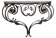 19th-C. Wrought Iron Console | One Kings Lane