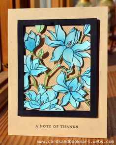 I have been thinking about this card for quite some time now, and I am glad it came out the way I imagined it to be. I recently got this flower stamp, and thought it was time that I made this card....